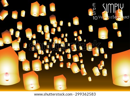 paper lanterns blowing into sky in night time