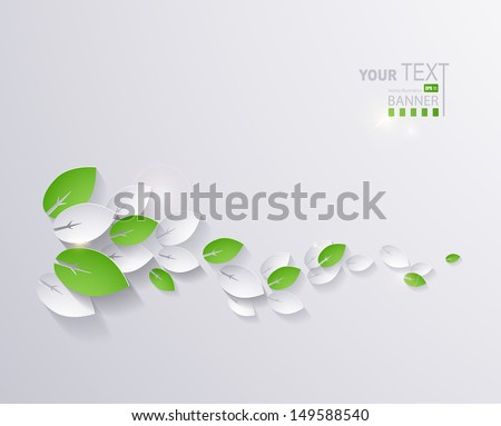 paper leaves abstract background - stock vector