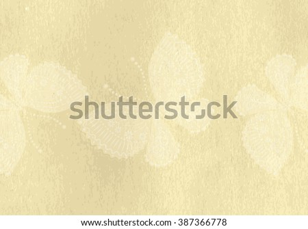 Paper light background for scrapbooking with transparent butterflies  (vector EPS 10) - stock vector