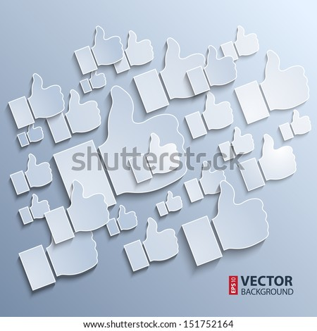 Paper like symbols on grey background. RGB EPS 10 vector illustration - stock vector