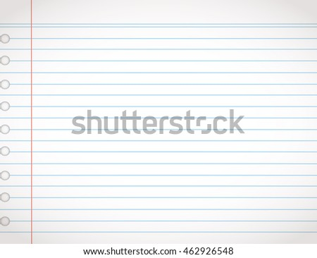 Notebook Page Template Lines Vector Vector 333526097 – College Ruled Lined Paper Template