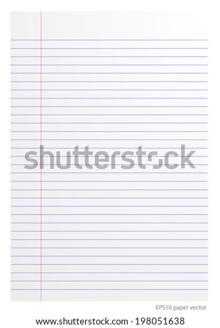 paper line vector format - stock vector