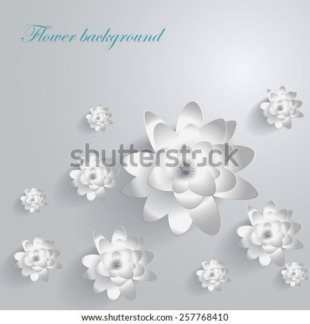 Paper Lotus - stock vector
