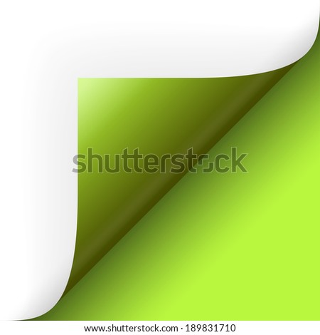 Paper lower right corner - stock vector