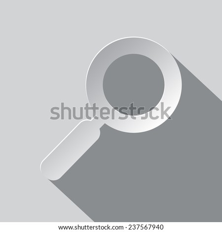 Paper Magnifying Glass - Lupe Vector Illustration - stock vector