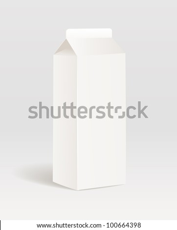 Paper milk product container - stock vector