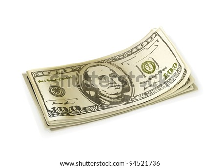 Paper money, vector - stock vector