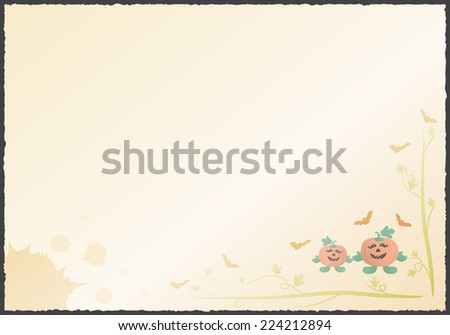 Paper note of Halloween background, Vector illustration EPS10