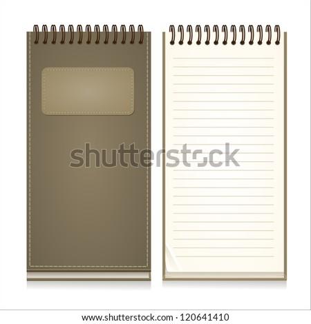Paper Notebook - stock vector