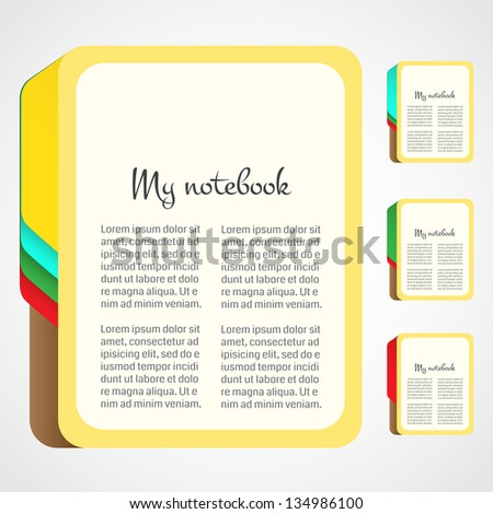 Paper notebook with color page