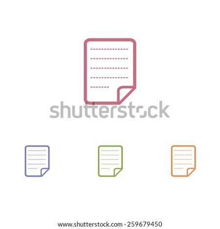 paper notes icons - stock vector