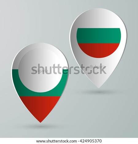 paper of map marker for maps and navigators bulgaria