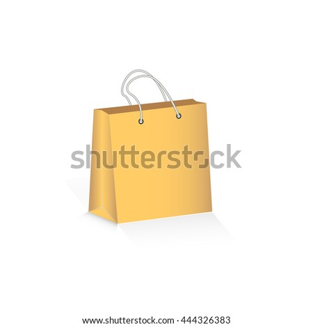 Paper Package coffee colour on a white background