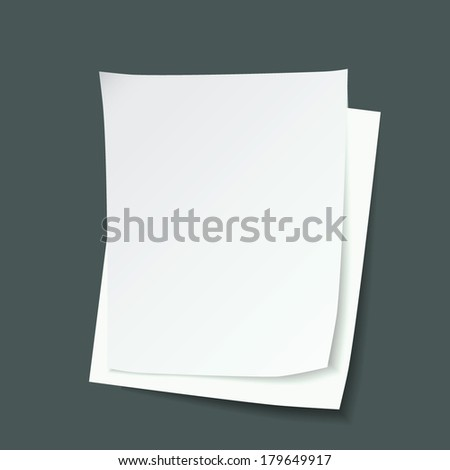 paper pages vector, copy space of paper sheet sigh icon