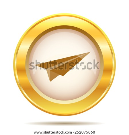 Paper plane icon. Internet button on white background. EPS10 vector.  - stock vector