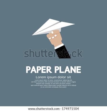 Paper plane In Hand Vector Illustration - stock vector
