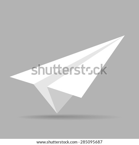 Paper Plane isolated