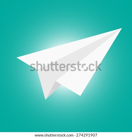 paper plane on vintage background