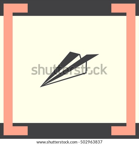 Paper plane sign vector icon. Travel concept symbol.