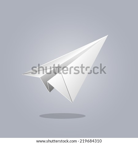 paper plane. vector illustration