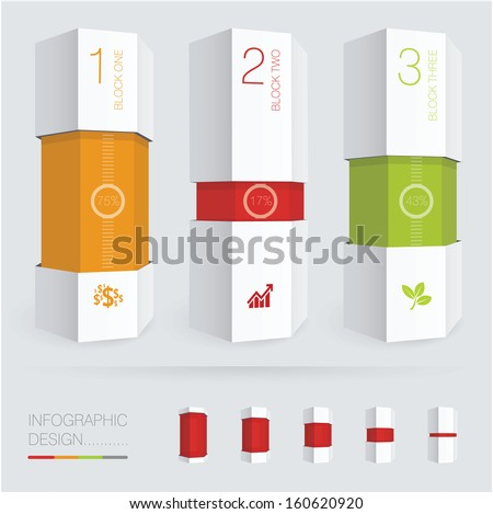 Paper Prism Vector Infographic Chart Template Stock Vector