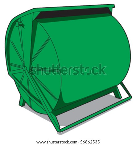 paper recycle bin side - stock vector