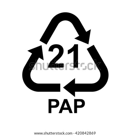 Paper Recycling Symbol Pap 21 Vector Stock Vector 420842869
