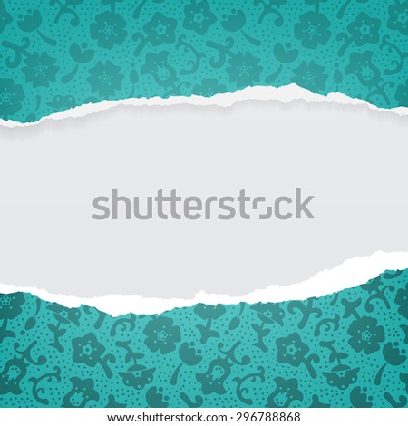 Paper ripped vector background set space texture - stock vector