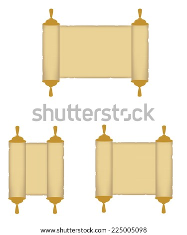 Paper roll, rolled paper, paper scroll, roll vector