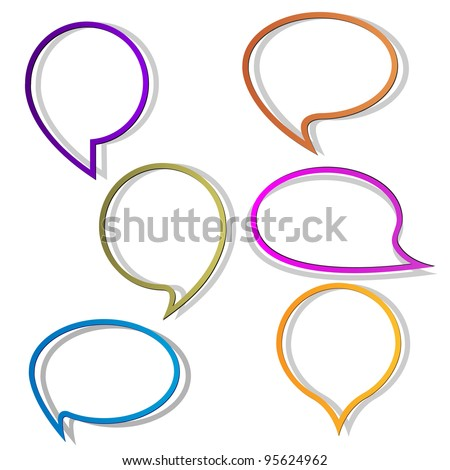Paper round bubble for speech.Vector eps10 - stock vector
