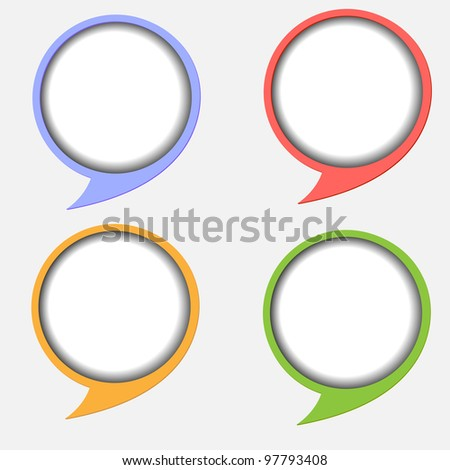 Paper round bubble for speech.Vector eps 10 - stock vector