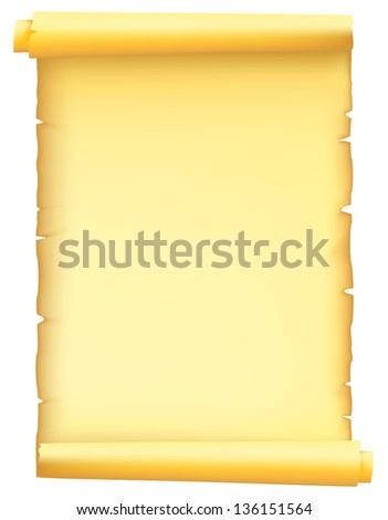 paper scroll - stock vector