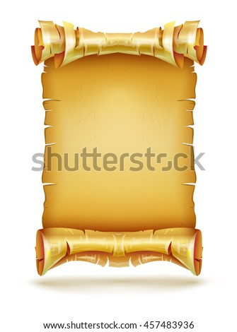 template of a scroll