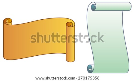 Paper scrolls isolated on a white background - stock vector