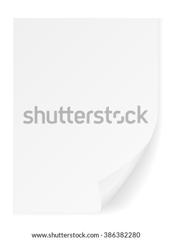 Paper sheet on a white background. - stock vector