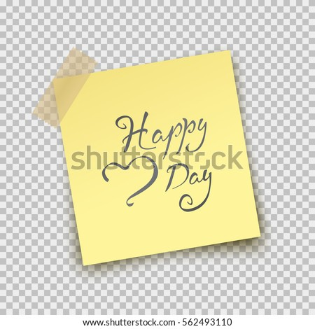 Paper Sheet On Translucent Sticky Tape Stock Vector 553505635