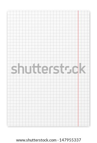 Paper sheet on white background