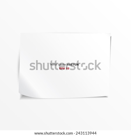 paper sheet vector / paper graph on white background  /paper note /for office and education  - stock vector
