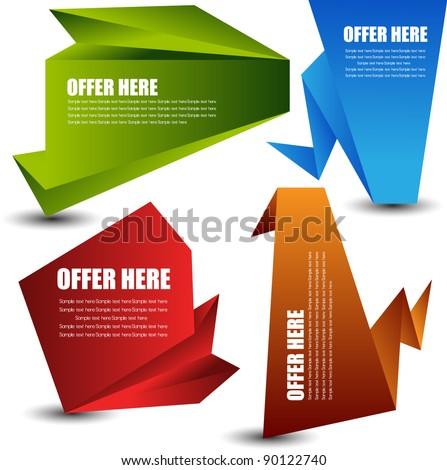 paper speech bubble collection - stock vector