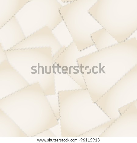 Paper stamps seamless background - stock vector