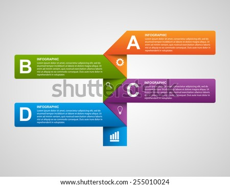 Paper sticker, banners, options infographic. Design element. Vector illustration. - stock vector