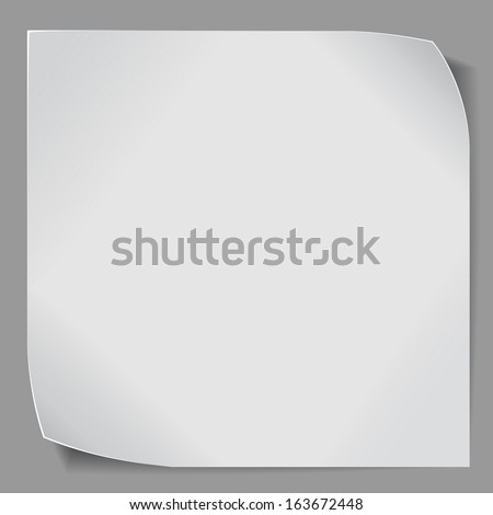 Paper sticker over gray background. Vector EPS10.