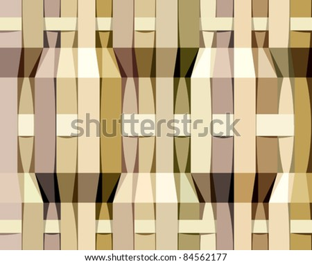 Paper stripes seamless pattern, vector background. - stock vector