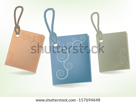 paper tag on the cord - stock vector