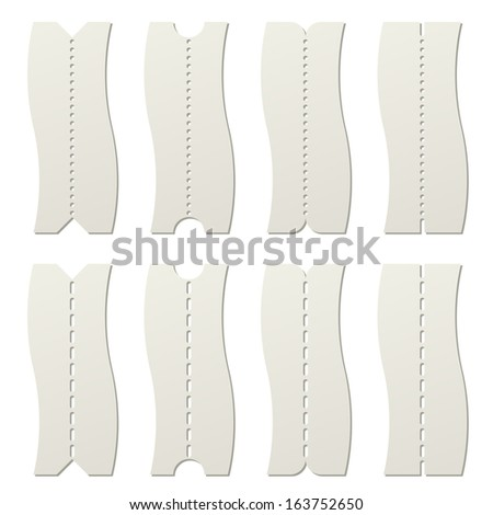 Paper Tear Off Perforated Line Template Stock Vector 163752650 ...
