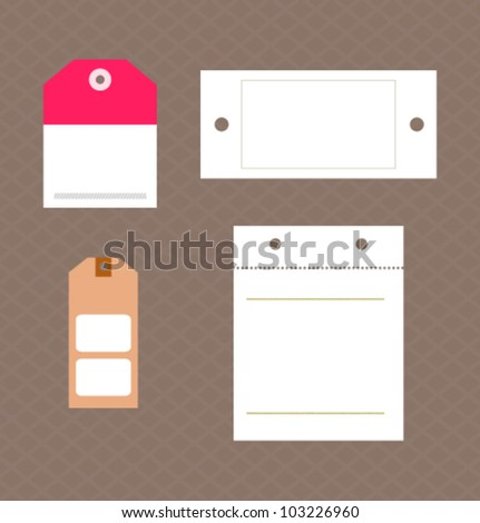 Paper text bubbles. Vector set. - stock vector