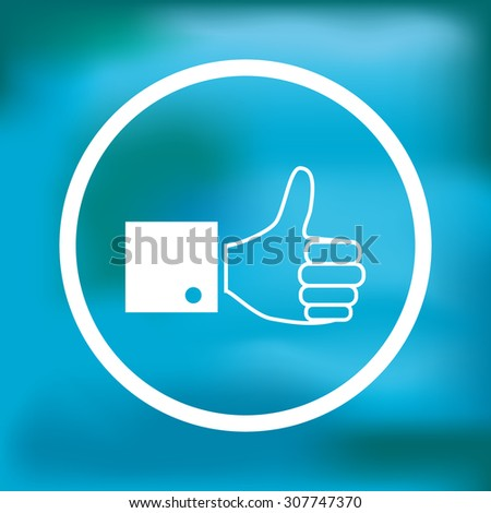 Paper thumb up icon, vector illustration - stock vector