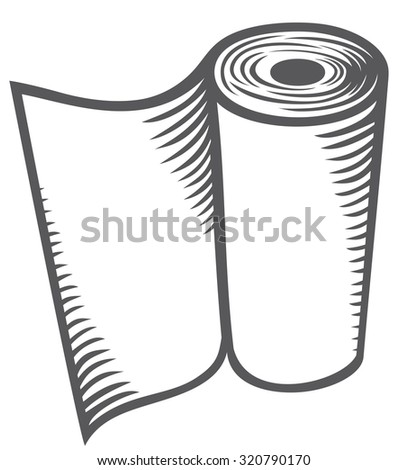 paper towel (kitchen paper roll, hand paper towels roll) - stock vector