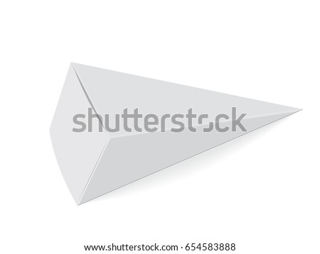 Paper triangular box for your design and logo. Ice cream. It's easy to change colors. Blank vector EPS 10. Mock Up