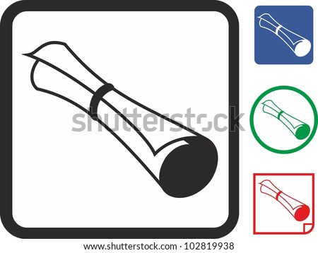 Paper vector icon - stock vector